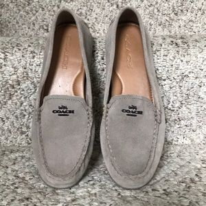 Coach suede Mary Lock Up shoes